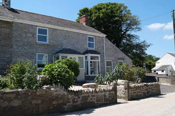 The front of this beautifully refurbished, surprisingly spacious old cottage.