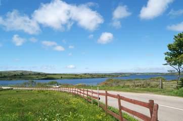 Stithians Reservoir lies just outside the village.