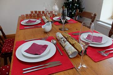 Christmas dinner with family or friends before a walk around the village or watching a few repeats on the TV!