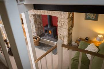 The wood-burner will keep you cosy and snug on those cold dark winter days and evenings.