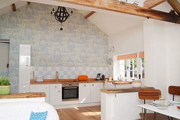 The fabulous kitchen-area.
