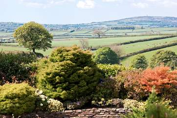 Wonderful views over rolling countryside can be seen from the drive to the cottage.