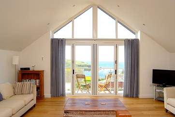 There are great views from the first floor living-room.