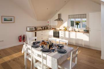 The perfect kitchen/dining area for feasting together.