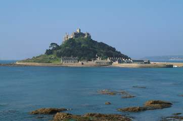 Famous St Michael's Mount at Marazion is accessible on foot along the causeway at low tide.