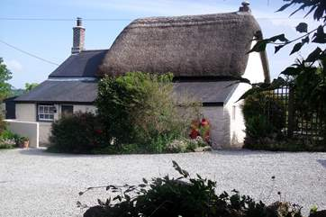 There is plenty of space to park alongside the cottage.