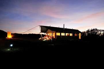 Magical nights at Glamping at Chymder Farm.