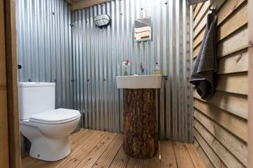 The lovely en suite cloakroom.