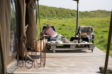 Enjoy the peace and tranquility on Woody's decking.