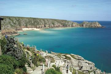 Porthcurno, for guests looking to walk the coast path, it is a fabulous walk from Mousehole.