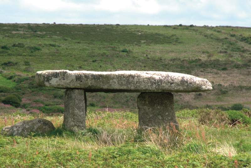 Lanyon Quoit, set in the moors in the far west.