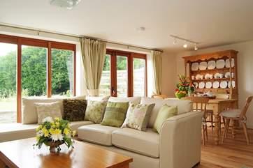 Meadows has a delightful, light-filled open plan living-room.