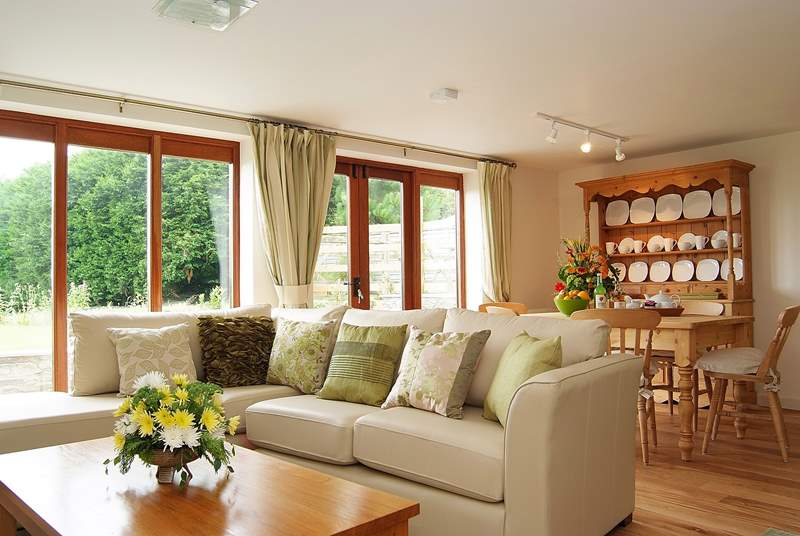Meadows has a delightful, light-filled open plan living-room.