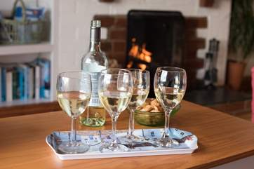 Enjoy a cosy holiday tipple whatever time of year you visit.