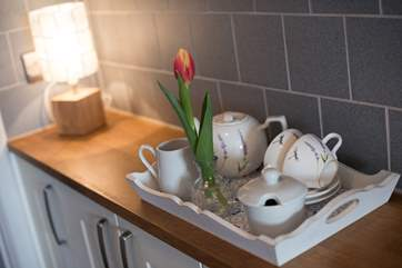 A very warm welcome awaits you... a lovely, freshly baked cream tea.