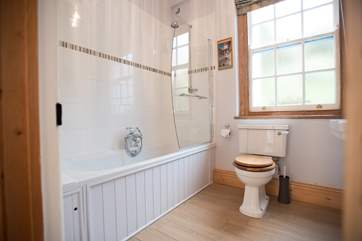 The beautiful bathroom.