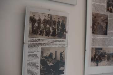 The history of the coastguard station is displayed in the hall.