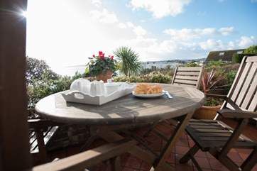 What a view to enjoy with your breakfast! (or lunch, dinner or evening drinks!).