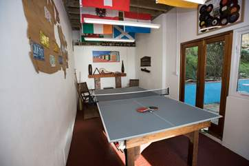 The games-room can be accessed from the rear terrace.