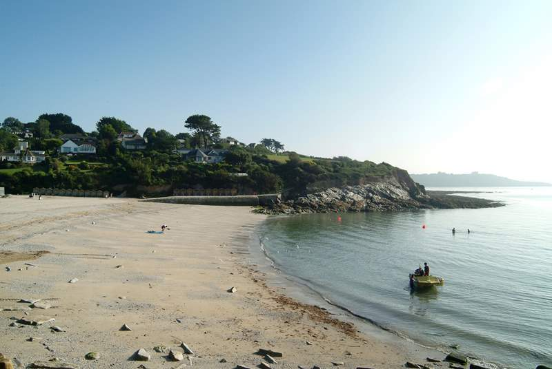 Swanpool beach is a five minute walk away.