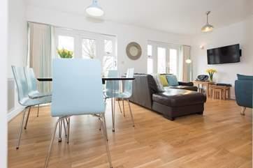 The light filled open plan living-room.