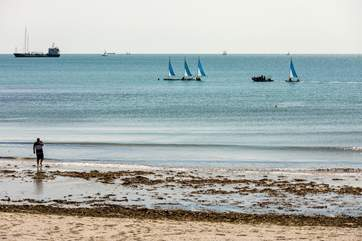 Try your hand at watersports at Swanpool Beach.