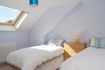 Bedroom 3 has twin beds.