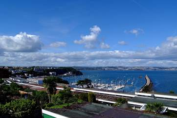 Wonderful views above Brixham and out to Torbay beyond.