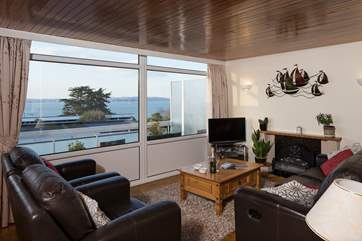 Great views across Torbay from the sitting-room.