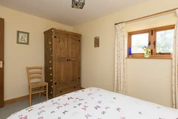 Both bedrooms have plenty of storage.