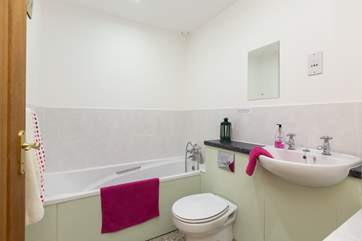 Across the corridor from the second bedroom is this lovely bathroom.
