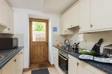 As well as the galley-style kitchen there is a separate utility room.  This cottage is really well equipped for your stay.