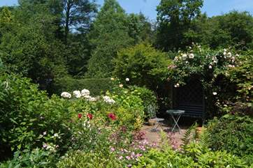 There is a beautiful cottage garden at the front ot the cottage where you can sit in peace and quiet listening to the sound of the little brook.