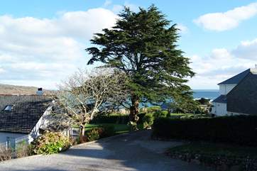 Both double bedrooms have lovely sea views.
