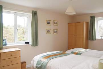 Bedroom 4 is also furnished with twin beds.