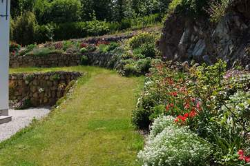 The lawns, beds and borders are all beautifully maintained.