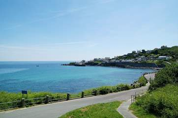 The road leading down into Coverack.