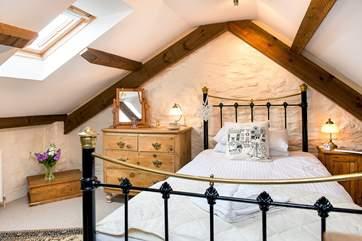 Bedroom 3 is the galleried bedroom above Bedroom 1.