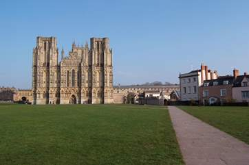 Wells Cathedral is a short distance away.