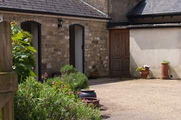 This is the courtyard entrance to the cottage.