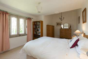 This is the double bedroom, with a king size bed,  on the ground floor.