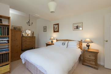The ground floor double bedroom is really spacious and light.