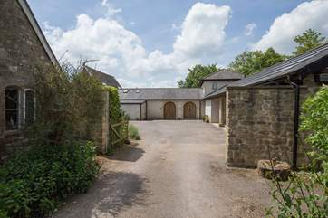 As you arive at the property, you drive through this entrance into the old courtyard.  The Old Coach House is then to the left.
