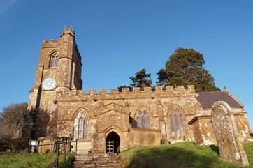 The beautiful village church.