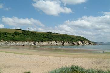 Falmouth's family-friendly Maenporth Beach is just a few minutes away by car.