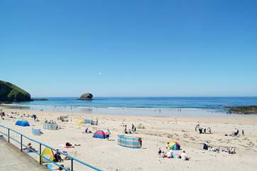 Portreath's sandy beach on the north coast is about a 20 minute drive away.