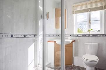The en suite shower-room to the ground floor bedroom.