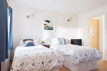The ground floor bedroom can be made up as a twin or double bedroom.