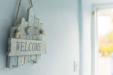 You are certainly made to feel welcome at Stable Cottage.