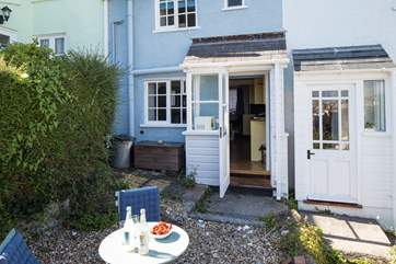 There is a little courtyard-style garden to sit out in at the back of the row of cottages.